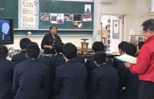 出張にぎり墨体験 ~宮城県涌谷高校~