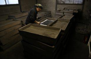 墨作りの製造工程~灰乾燥~