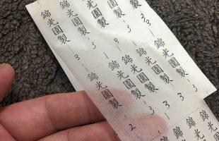 木型用の雁皮紙(がんぴし)